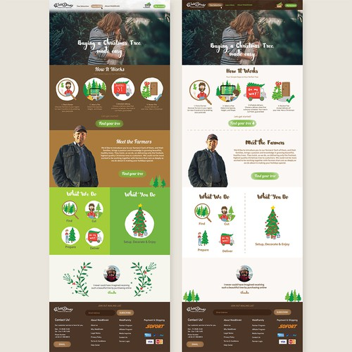 Buying a Christmas tree Website Design