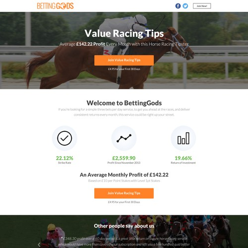 A Sports Betting Landing Page to Increase Conversions