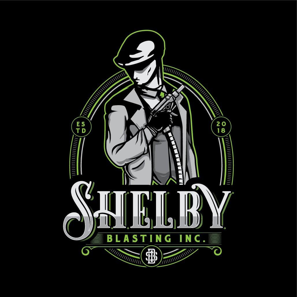 Design a classic logo for Shelby Blasting Inc.