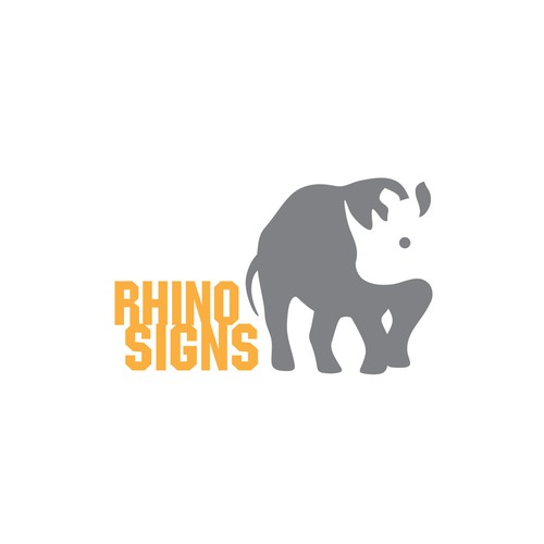 Strong logo for Rhino Signs