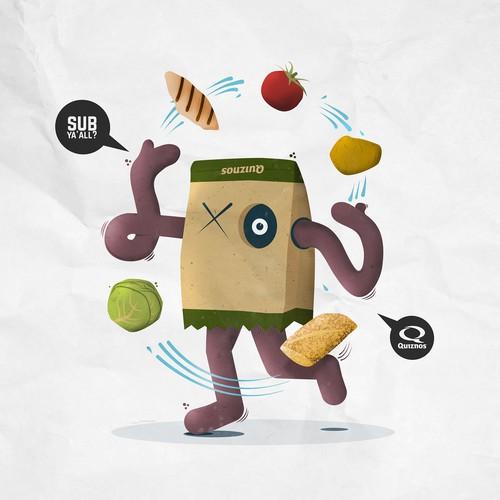 Quiznos 2017 Calendar of Food Illustrations