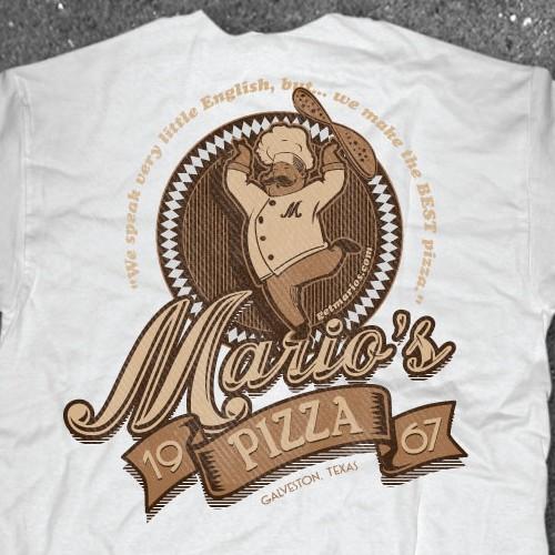 Vintage Shirt design for Pizza Shop