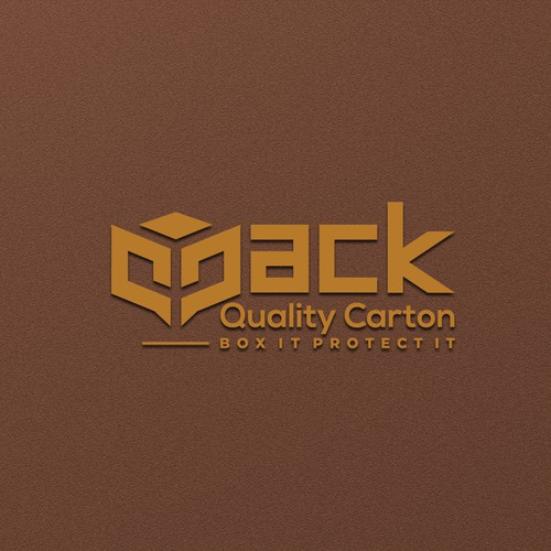 simple, clean, and proportional logo design for qpack