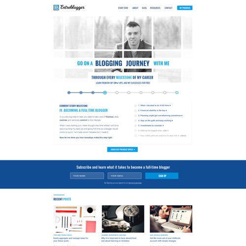 Website design for Entreblogger