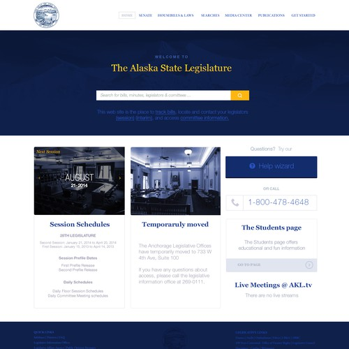 Redesign the Alaska Legislature's Website!