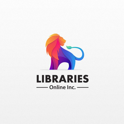 lion colorfull logo design