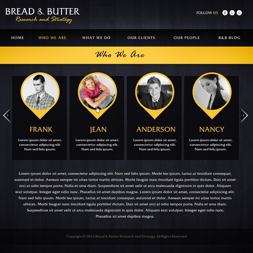 Webdesign for Bread & Butter
