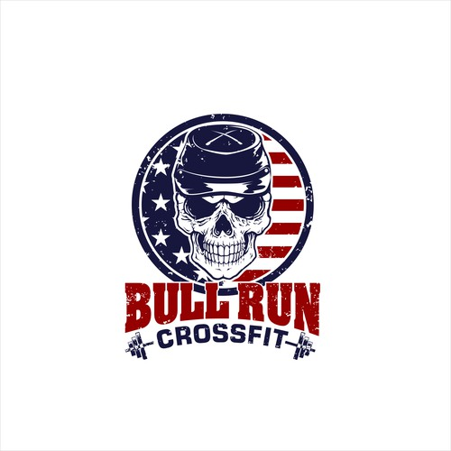 awesome logo for BullRun Crossfit