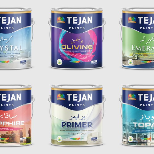 Paint Tin Label Design