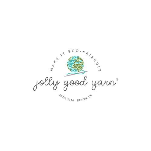 Eco-friendly yarn brand logo