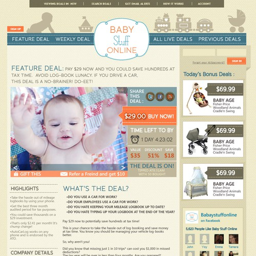 Baby Stuff Online needs a new website design