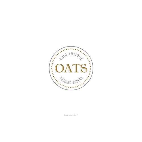 A simple logo of OATS - Ohio Antique Trading Supply