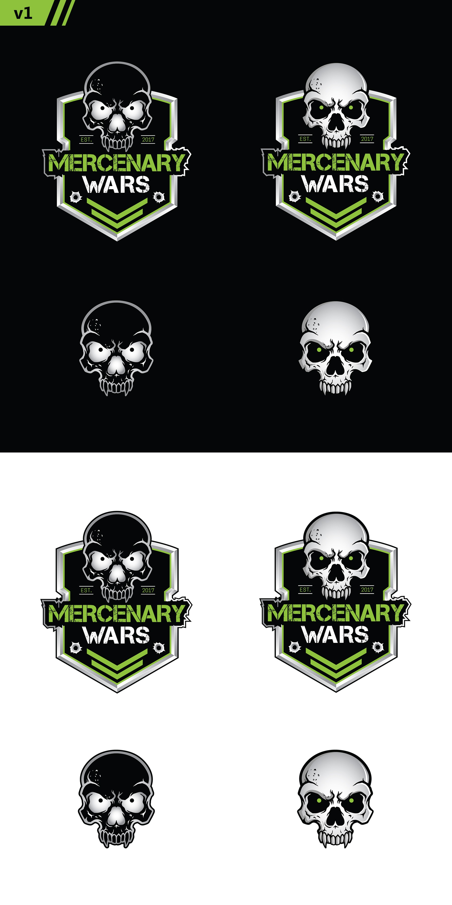 Mercenary Wars - design logo for badass new obstacle course company!