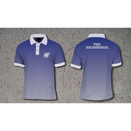 Create a clean yet engaging corporate polo shirt design