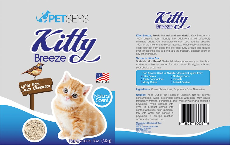 Product label for earth friendly pet company!