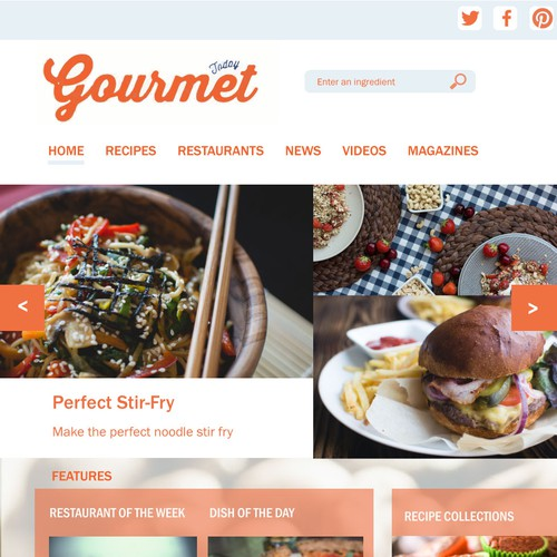 Gourmet food website