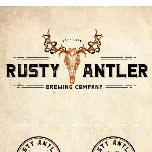 LOGO FOR RUSTY ANTLER BREWING