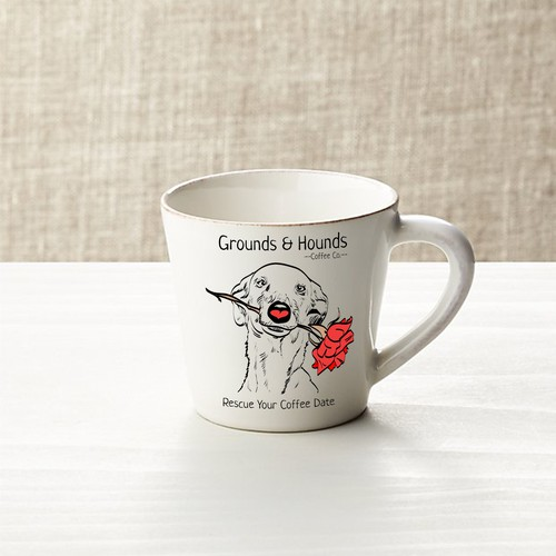 Design a mug for coffee and dog lovers!