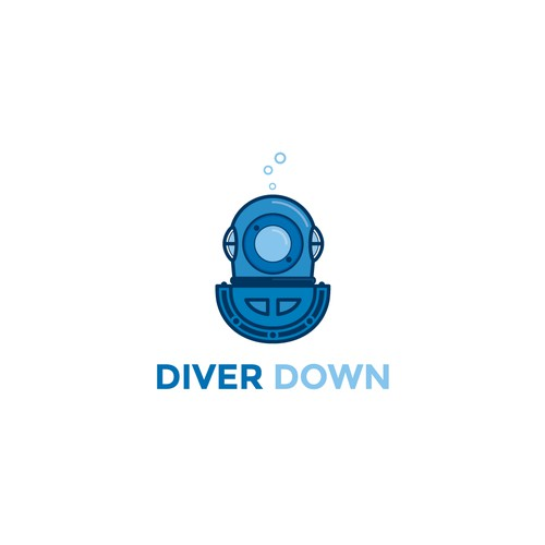 Bold logo concept for Diver Down