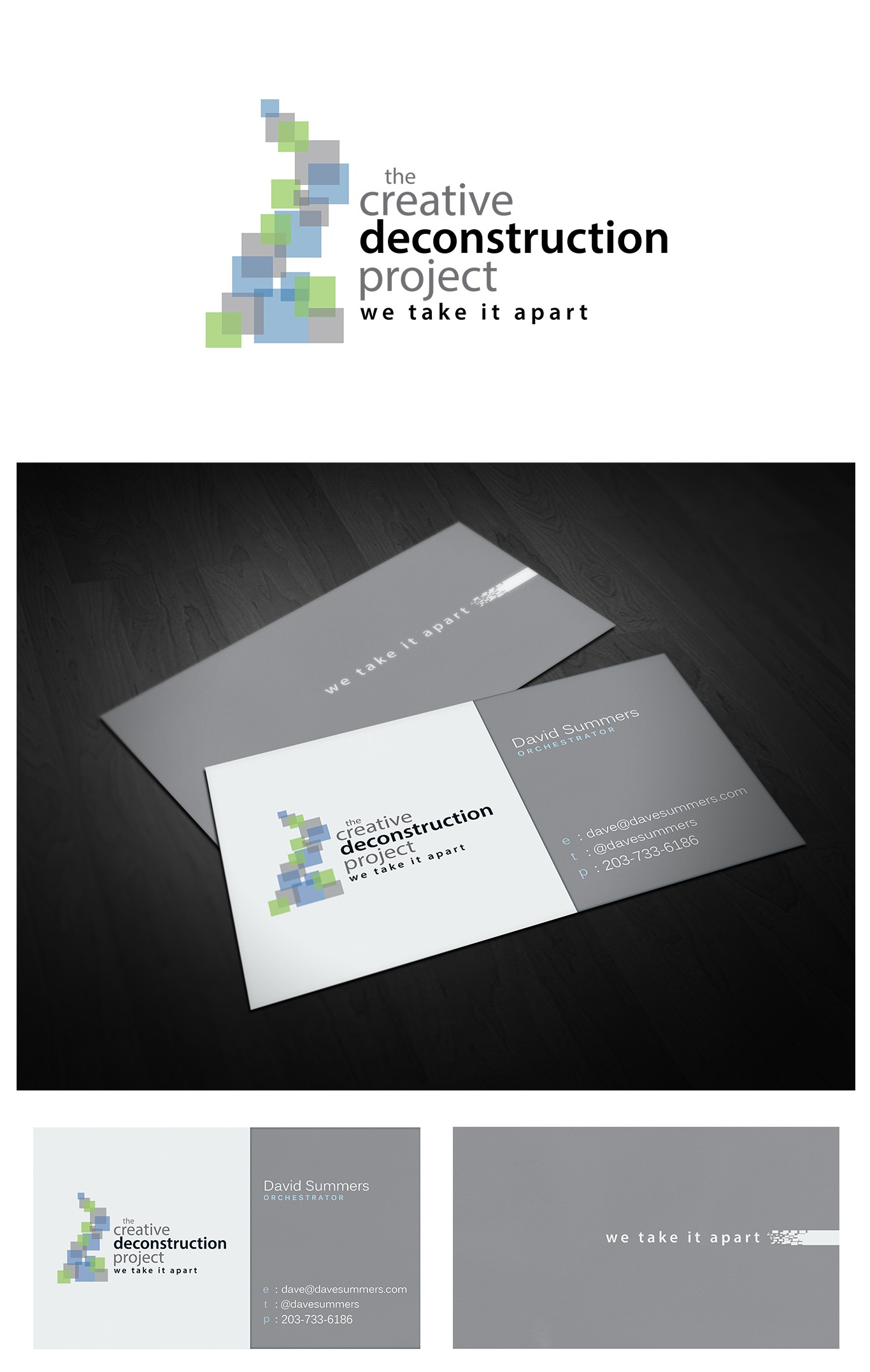 New logo and business card wanted for The Creative Deconstruction Project