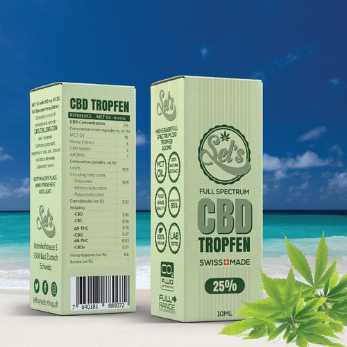 CBD Tropfen/drops box design