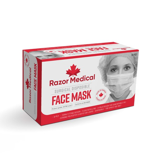 Surgical Face Mask made in Canada