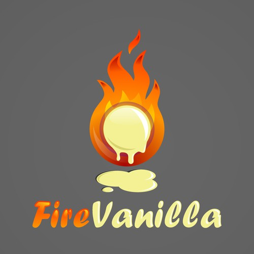 Fire Vanilla Logo Design