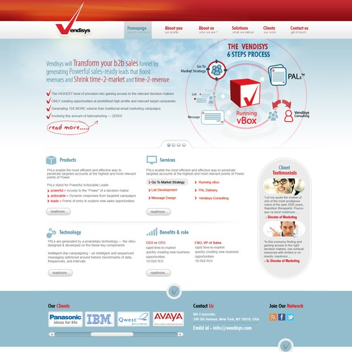 Create the next website design for Vendisys