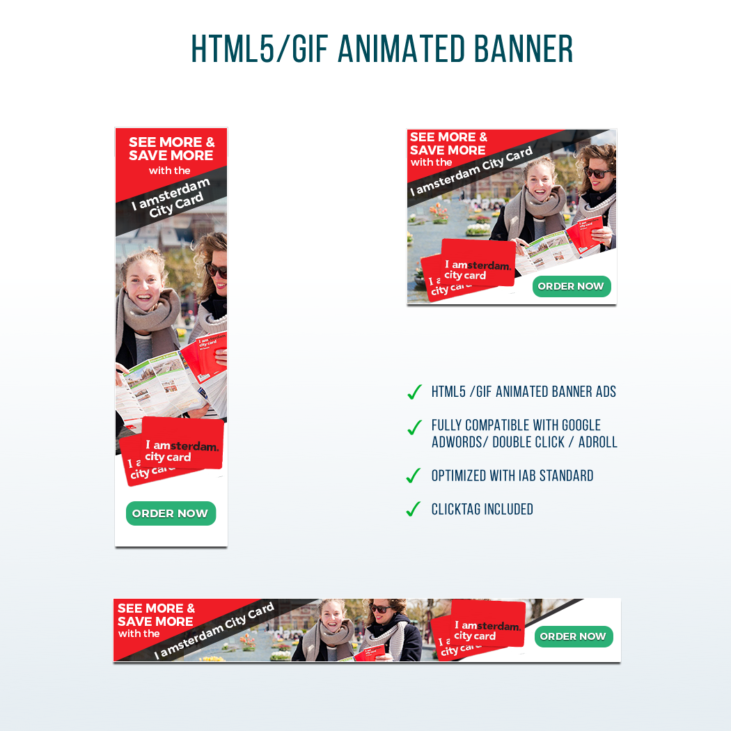 Who creates the best I amsterdam City Card banner to promote Amsterdam!