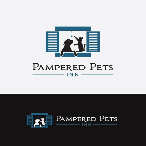 Design a new logo for a premium pet resort modeled after a boutique inn