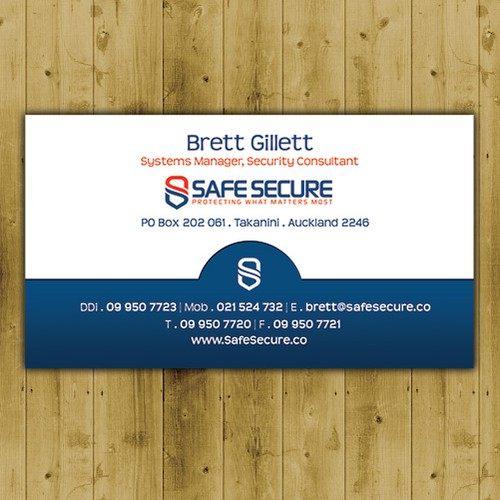New business card wanted for SAFE SECURE