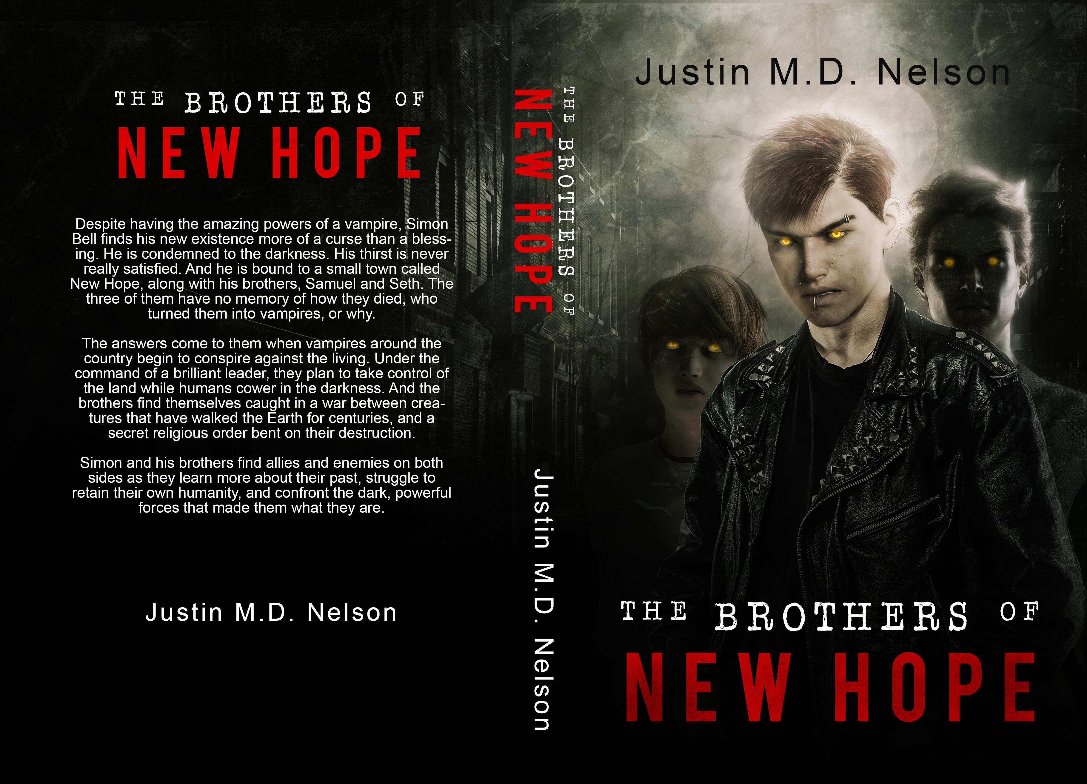 """Create a cover design for """"The Brothers of New Hope"""""""