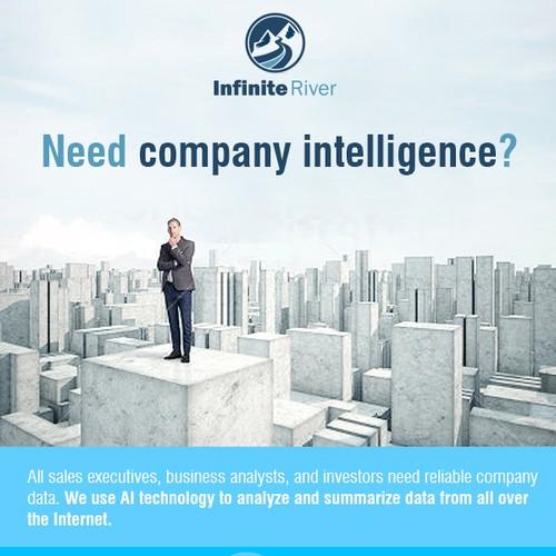 Promotional email for company intelligence database