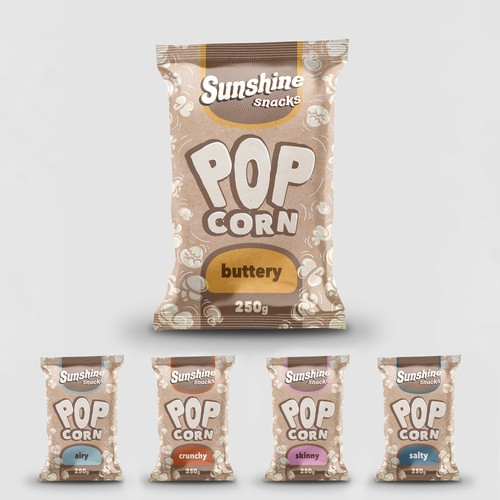 Pop Corn Packaging Design