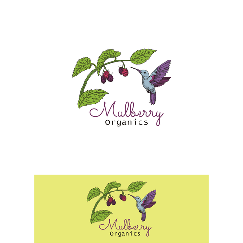 Illustrative hand drawn logo for organic skincare products