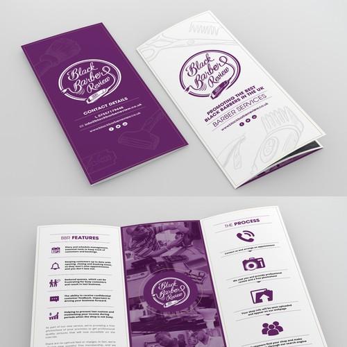 Brochure Design for New Hair & Beauty Startup!