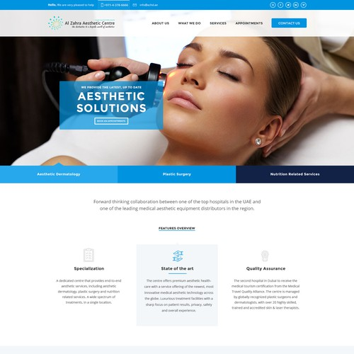 Medical Aesthetic web site design