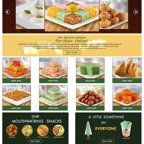 Webpage design for Food & Drink