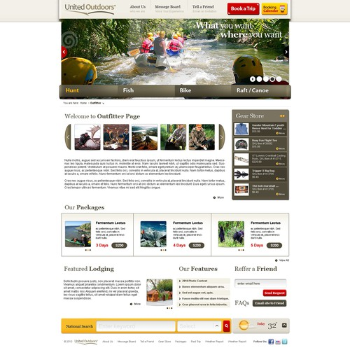 Outfitter / Guide Website - Make what we have better