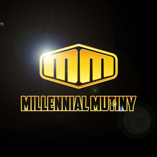 Create a superhero logo for millennial community