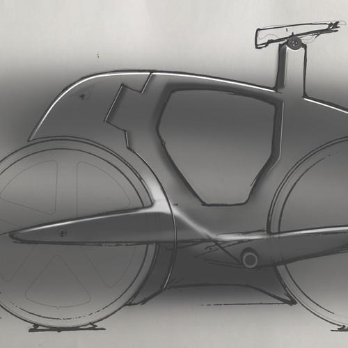 Futuristic race bicycle design
