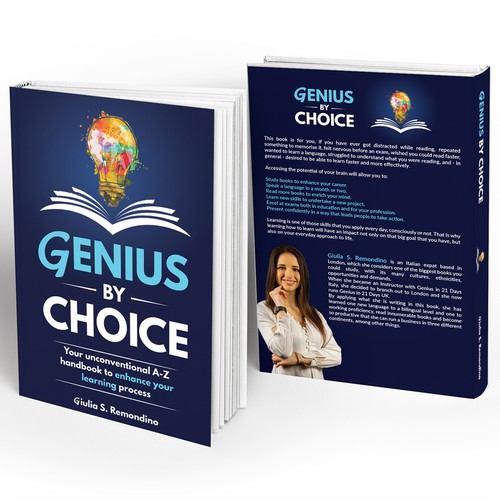 Creative, catchy cover for a book about enhancing your learning and feeling smarter