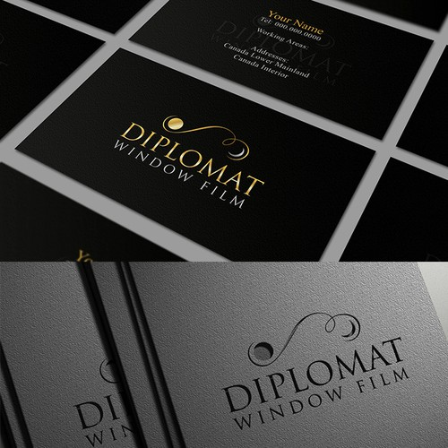 Diplomat Window Film needs a logo and business card