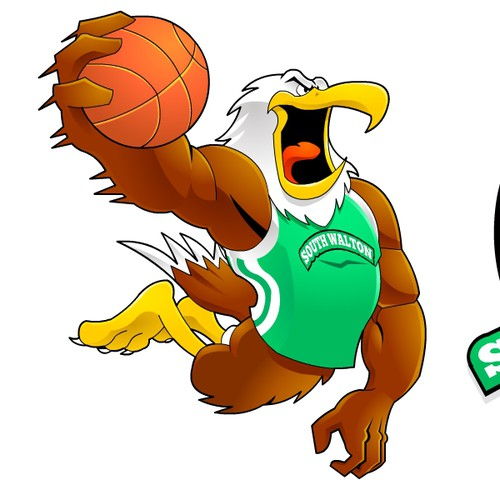 Create the next illustration or graphics for Sout Walton Seahawks Basketball