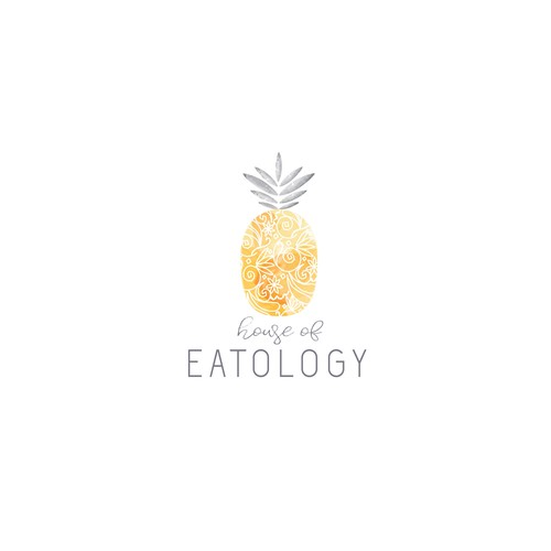 Design a pretty simple logo with a pineapple