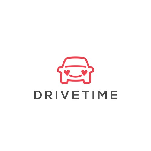 Logo design for Drivetime, world's first gaming company targeting the driver of the car