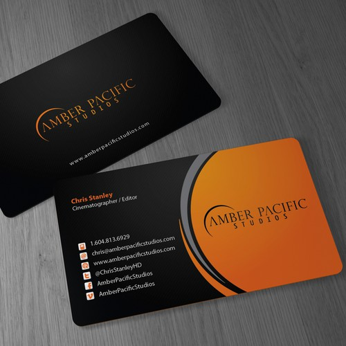 Business Cards wanted for Amber Pacific Studios