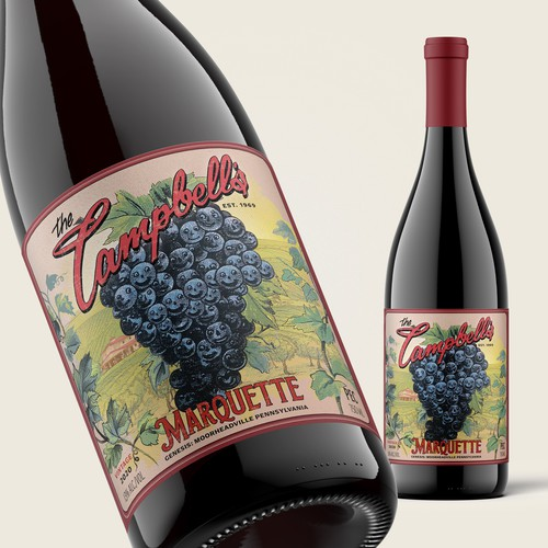 Wine labe for Campbell\s Marquette