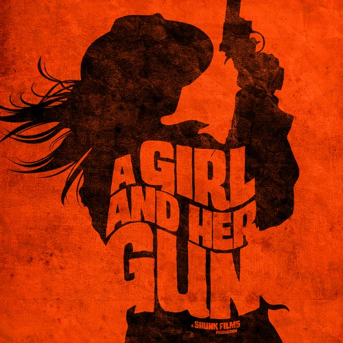 "Movie poster for western film ""A Girl and Her Gun"""