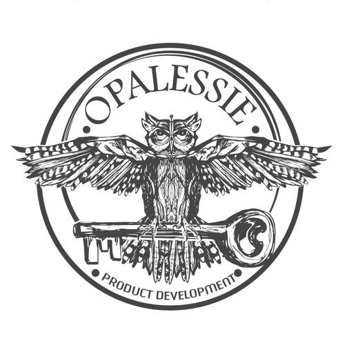vintage hand drawing owl design